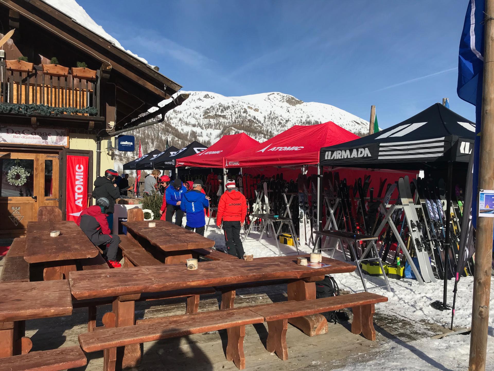 Ski Test Sestrières 2020 Restaurant Da casse