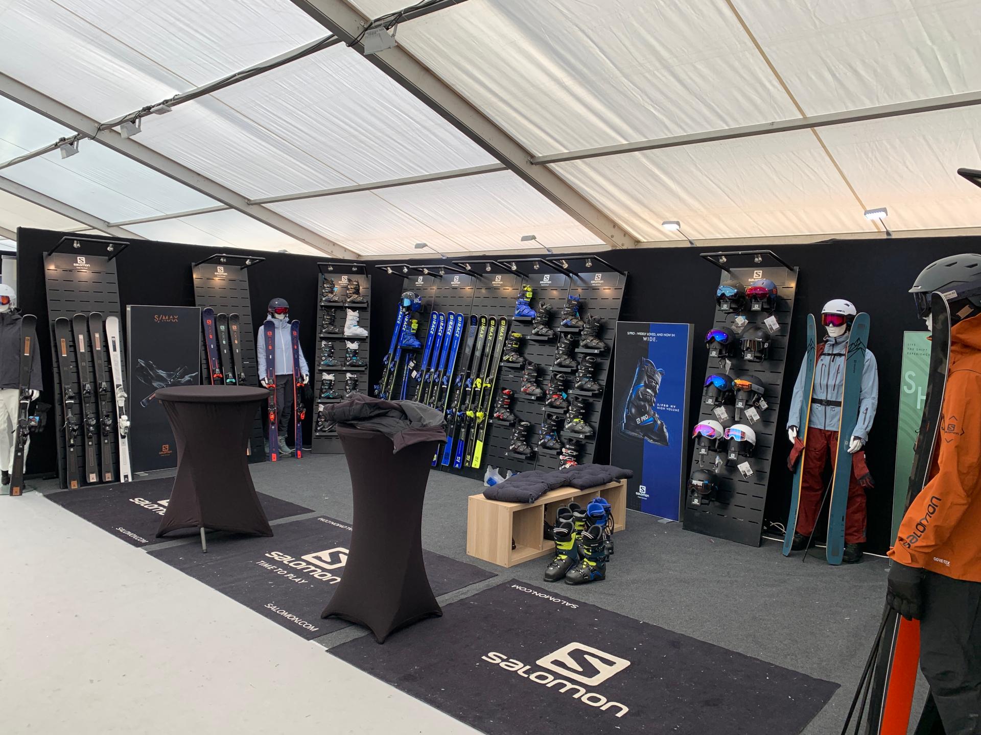 Ski Force pro Méribel 2020 Showroom Salomon