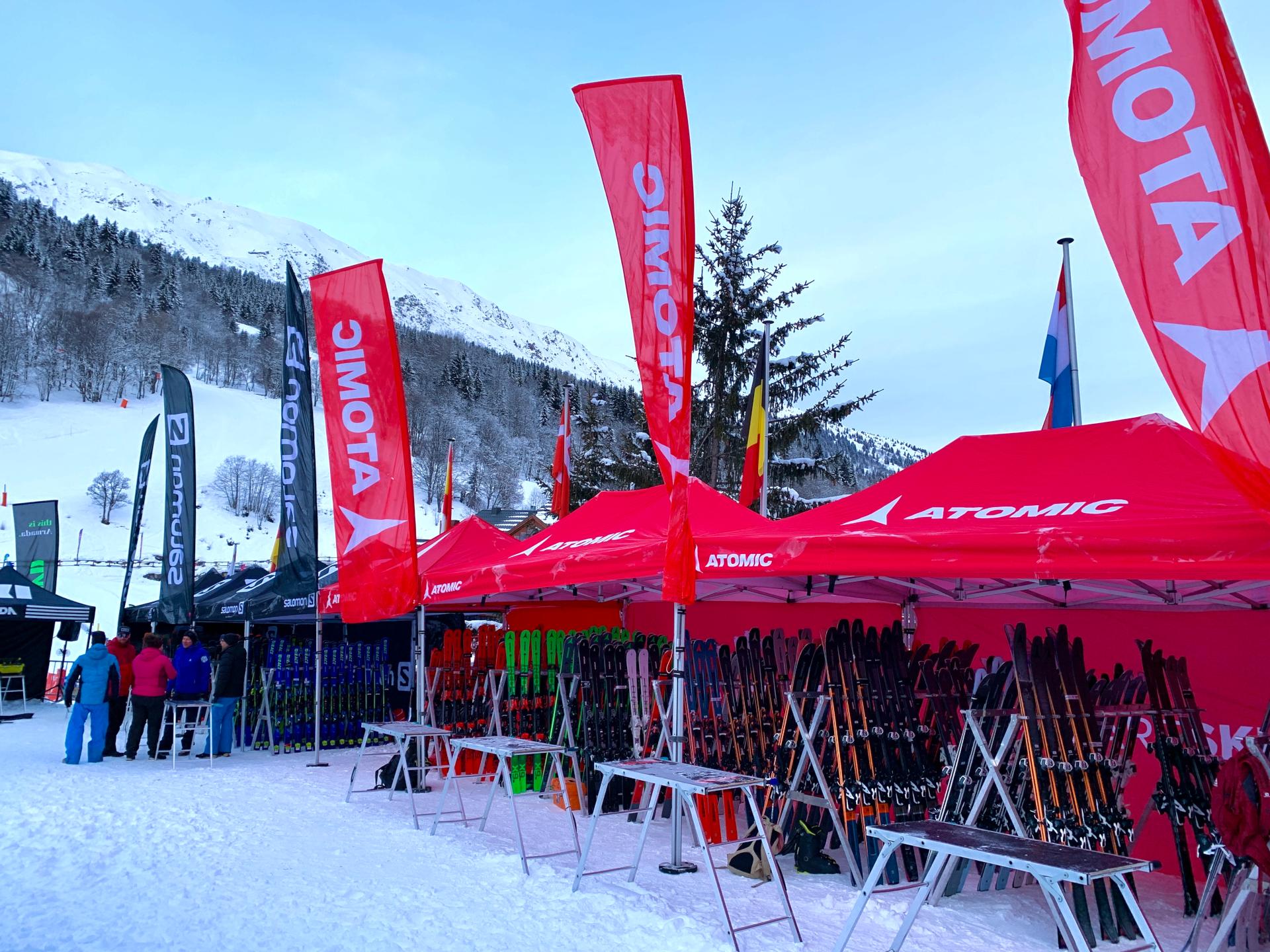 Ski Force Pro Méribel 2020 - Stand extérieur Atomic et Salomon